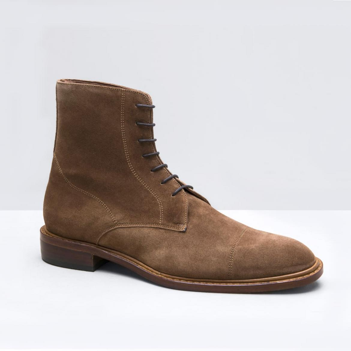 City Boots Velours Noisette