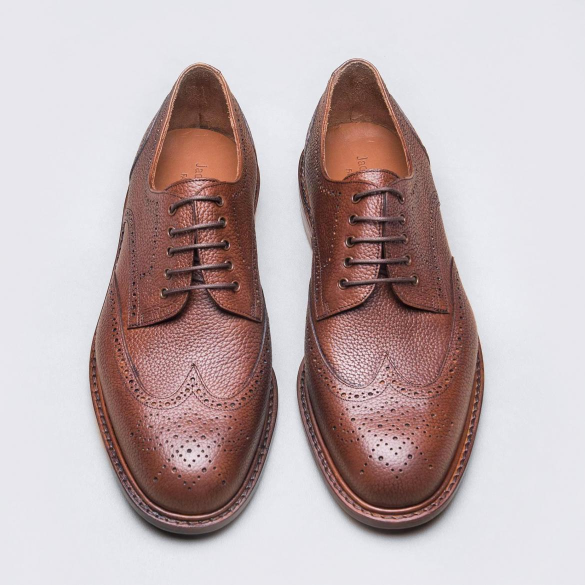 Derby Brogue V2 Fauve Grainé