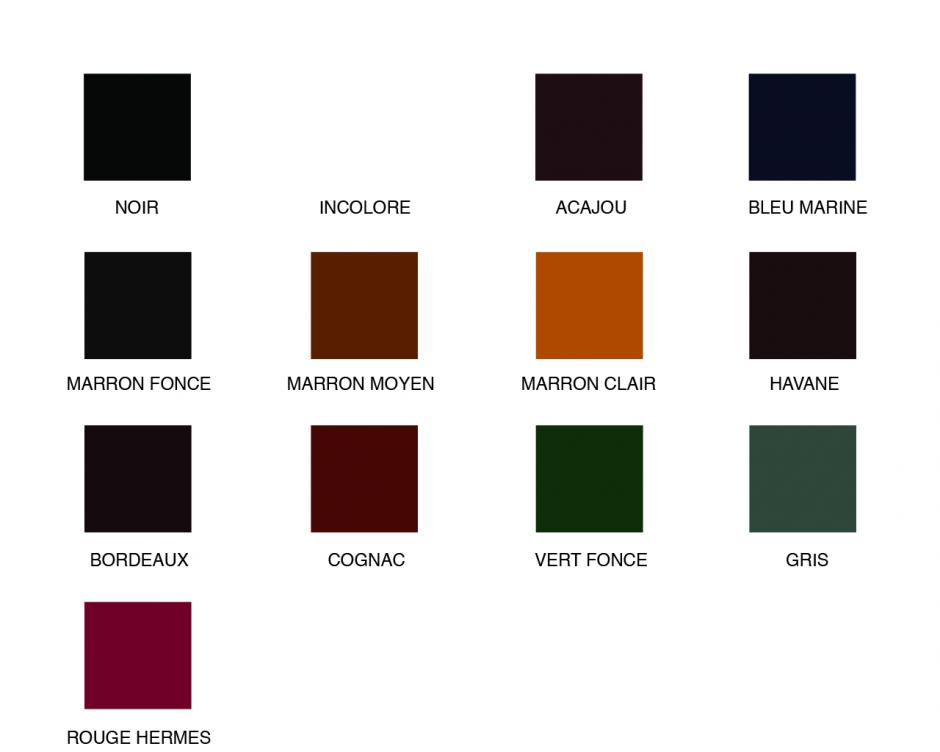 13 couleurs disponibles