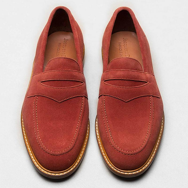 Loafer velours brique