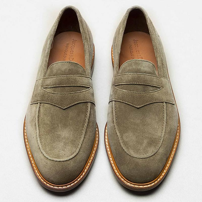 Loafer velours taupe
