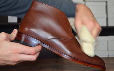 fil poissé chaussure brose a dent